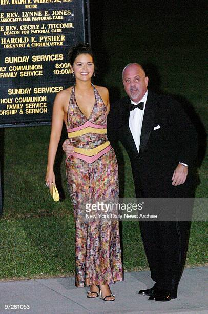 Billy Joel and wife Kate Lee Joel arrive at the Episcopal Church of BethesdabytheSea in Palm Beach Fla to attend the wedding of billionaire Donald...