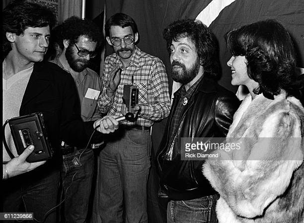 Billy Joel chats with press during CDB Jam VIII on January 17 1981