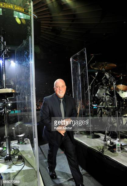 Billy Joel comes off stage after his show at Madison Square Garden on May 9 2014 in New York City