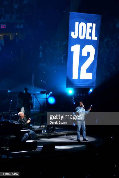 Billy Joel during Billy Joel in Concert and Jersey Unveiling at Madison Square Garden April 24 2006 at Madison Square Garden in New York City New...