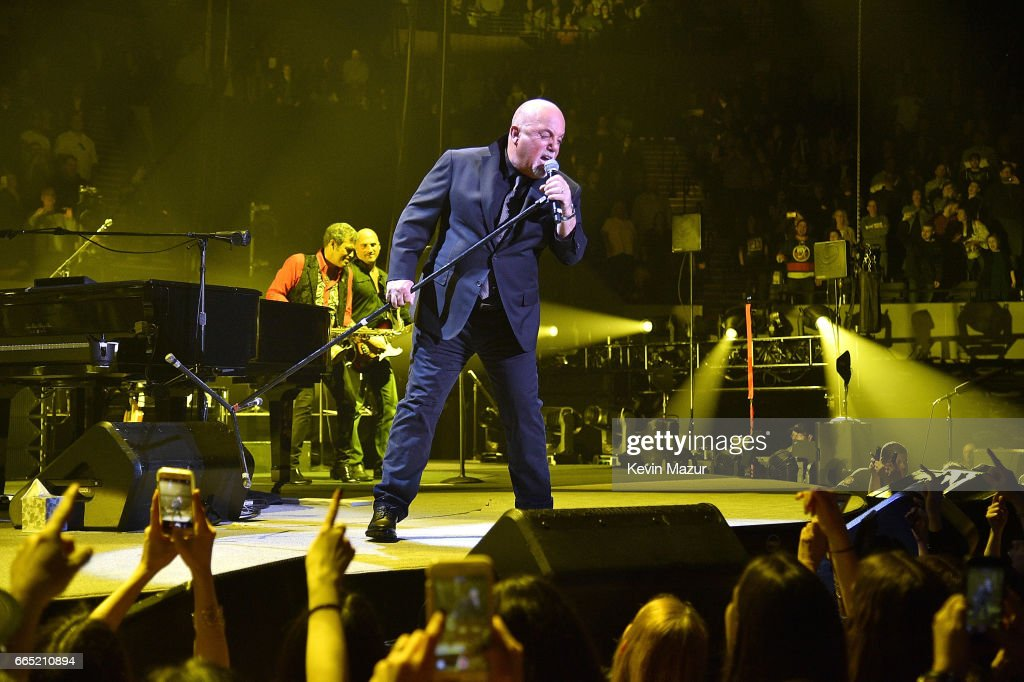 Billy Joel perfoms at the newly rennovated Nassau Coliseum, Long Island on April 5, 2017 in New York City.
