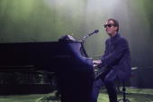 Billy Joel performing at the Oakland Coliseum on April 09 1990