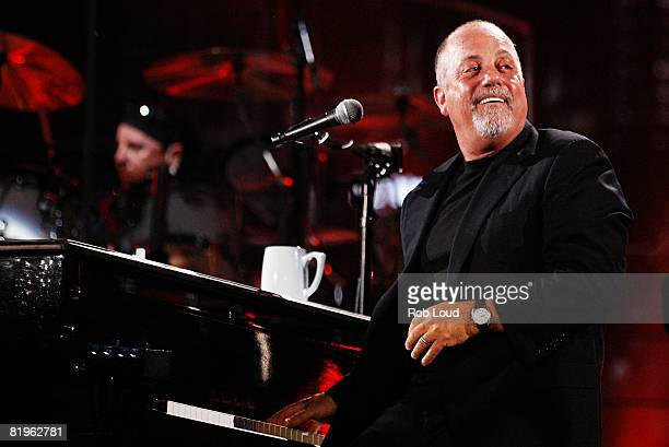 Billy Joel performs a concert at Shea Stadium on July 16 2008 in New York City