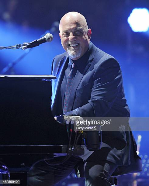 Billy Joel performs at American Airlines Arena on January 31 2015 in Miami Florida