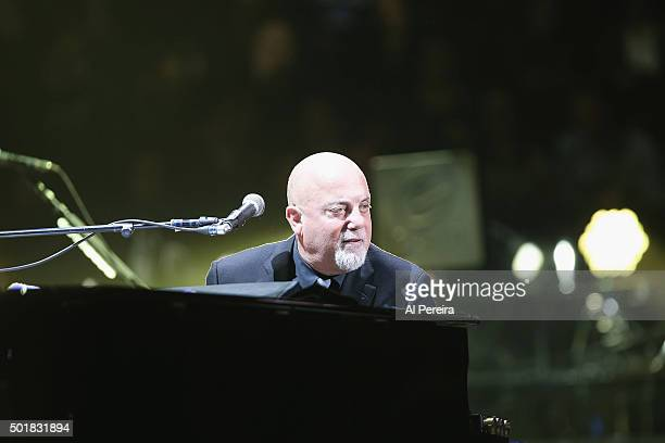Billy Joel performs at Madison Square Garden on December 17 2015 in New York City