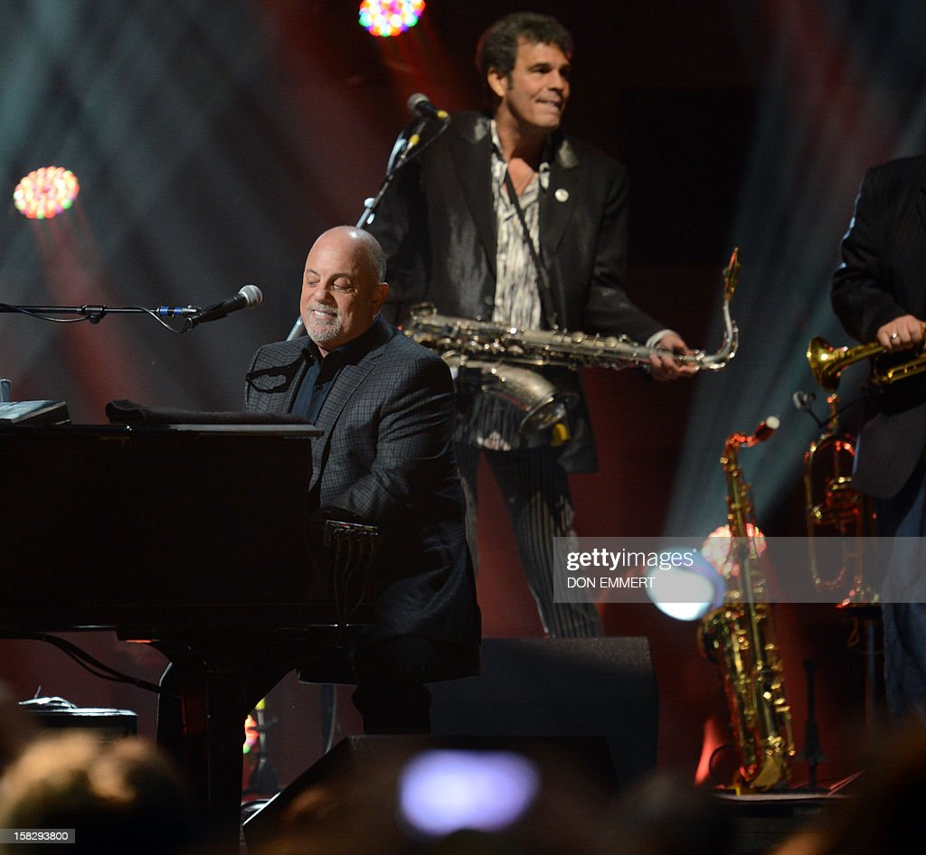 Billy Joel performs during '12-12-12 The Concert For Sandy Relief' December 12, 2012 at Madison Square Garden in New York. AFP PHOTO/DON EMMERT