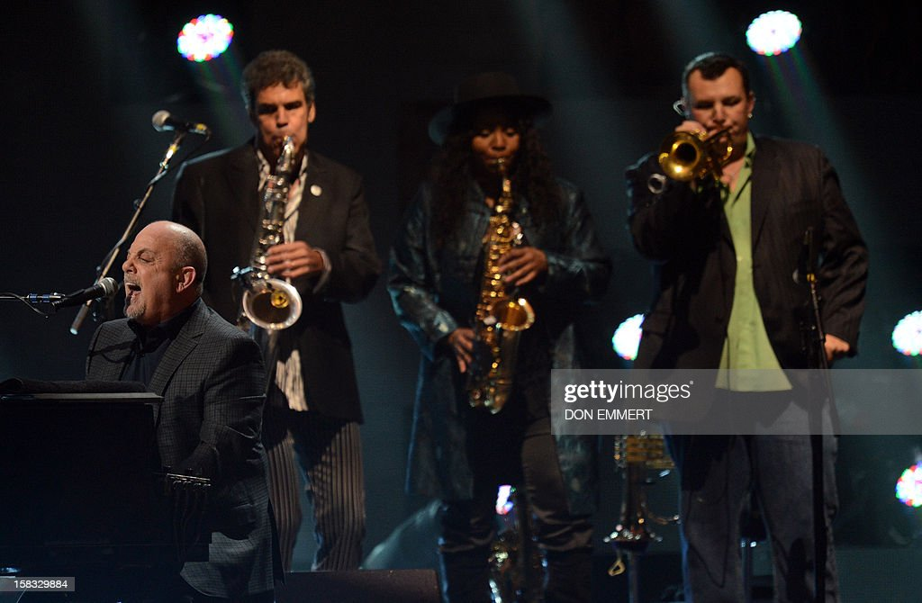 Billy Joel performs during '12-12-12 The Concert For Sandy Relief' December 12, 2012 at Madison Square Garden in New York.