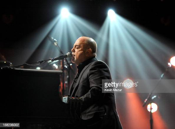 Billy Joel performs during rehearsals for the 121212 The Concert For Sandy Relief at Madison Square Garden on December 11 2012 in New York City