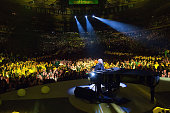 Billy Joel performs Madison Square Garden on January 9 2015 in New York City