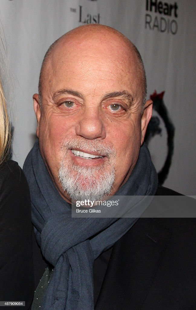 Billy Joel poses at The Opening Night of 'The Last Ship' on Broadway at The Neil Simon Theatre on October 26 2014 in New York City