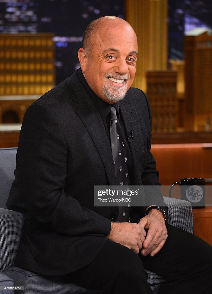 Billy Joel visits 'The Tonight Show Starring Jimmy Fallon' at Rockefeller Center on March 20 2014 in New York City
