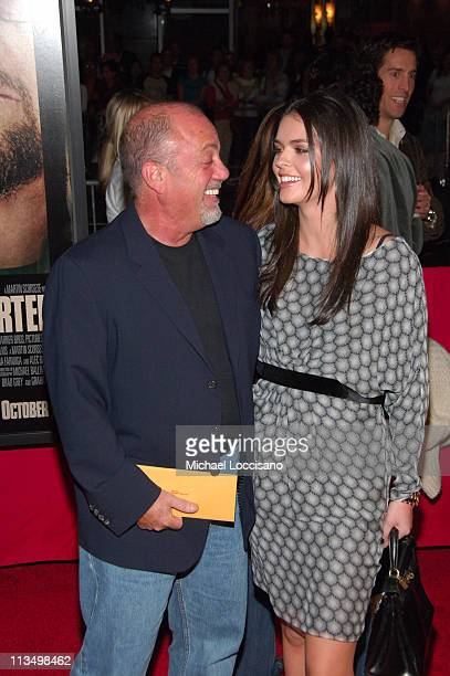 Billy Joel with his wife Katie Lee Joel during 'The Departed' New York City Premiere at Ziegfeld Theater in New York City New York United States