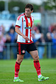 Billy Jones of Sunderland in action during a pre season friendly between Darlington and Sunderland at Heritage Park on July 9 2015 in Bishop Auckland...