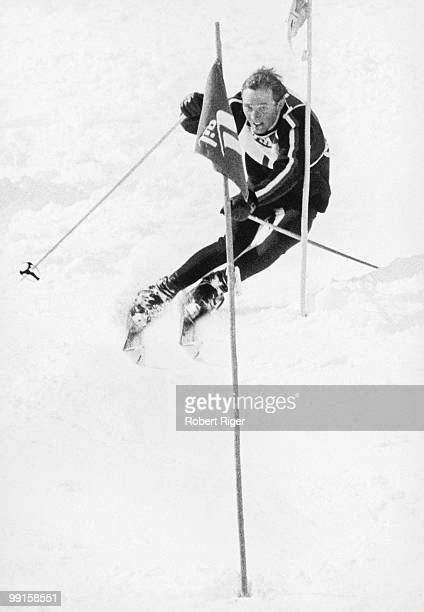 Billy Kidd competes in the American International Team Races event in March 1965 in Vail Colorado