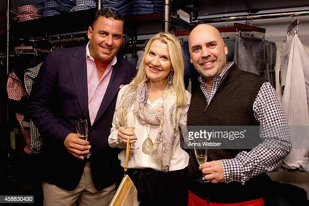 Billy Kreitsek Jr Jacqui Stafford Robert Lopez attends DuJour magazine's premier opening event Tincati Milano Concept Store on November 11 2014 in...