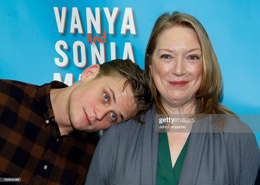 <a gi-track='captionPersonalityLinkClicked' href=/galleries/search?phrase=Billy+Magnussen&family=editorial&specificpeople=5408596 ng-click='$event.stopPropagation()'>Billy Magnussen</a> (L) and Kristine Nielsen attend 'Vanya And Sonia And Masha And Spike' Broadway Press Preview at The New 42nd Street Studios on February 28, 2013 in New York City.