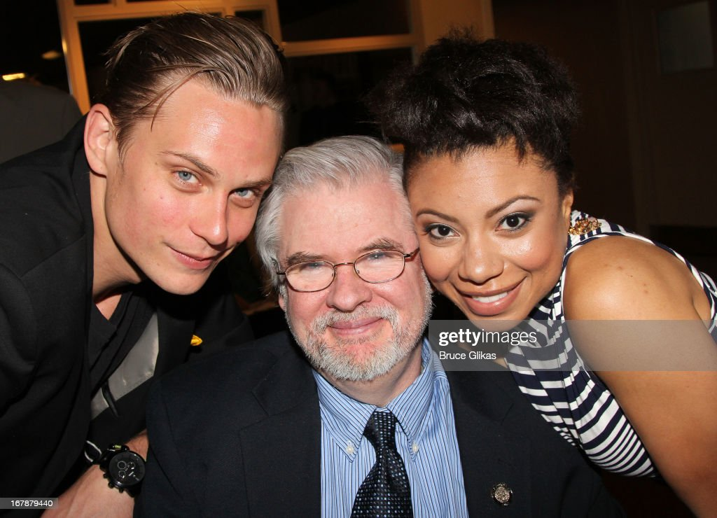 Billy Magnussen, Christopher Durang and Shalita Grant attend the 2013 Tony Awards: The Meet The Nominees Press Junket at the Millenium Hilton on May 1, 2013 in New York City.