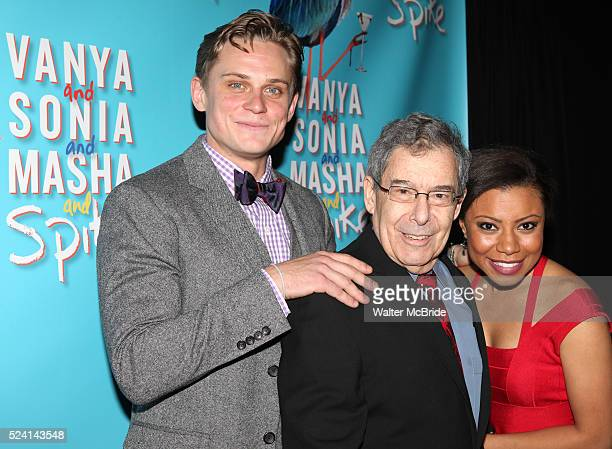 Billy Magnussen director Nicholas Martin and Shalita Grant attending the Broadway Opening Night Performance after party for 'Vanya and Sonia and...