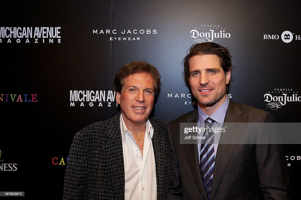 Billy Marovitz and Patrick Sharp attend Michigan Avenue Magazine November Cover Celebration Hosted By Chicago Blackhawks' Patrick Sharp & Patrick Kane at Carnivale on November 12, 2013 in Chicago, Illinois.