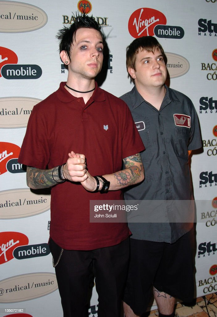 Billy Martin and Paul Thomas of Good Charlotte during Stuff Magazine and Virgin Mobile VMA Party Hosted by Missy Elliot and Dave Meyers Arrivals at...