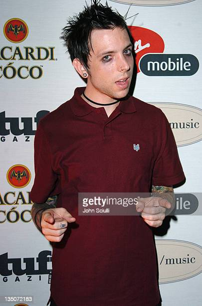 Billy Martin of Good Charlotte during Stuff Magazine and Virgin Mobile VMA Party Hosted by Missy Elliot and Dave Meyers Arrivals at Star Island in...