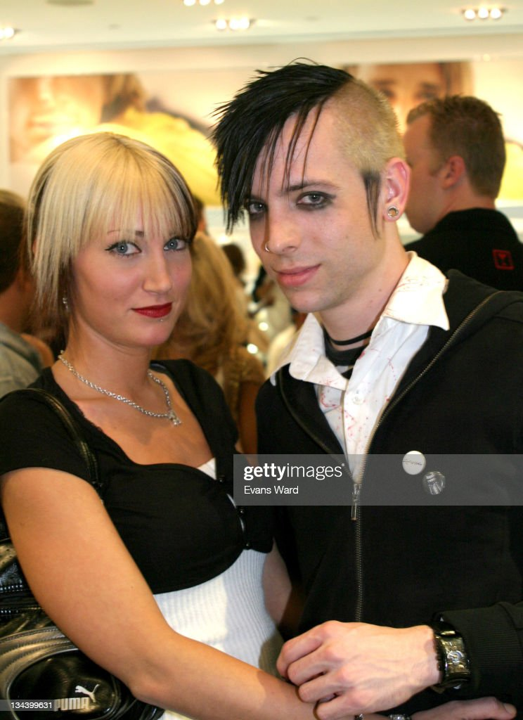 Billy Martin of Good Charlotte with guest Lyndsey during Reebok Trick Your Kicks Benefiting Forefront at Reebok Showroom on Robertson Blvd in Beverly...
