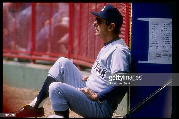 Billy Martin of the New York Yankees looks on during a game