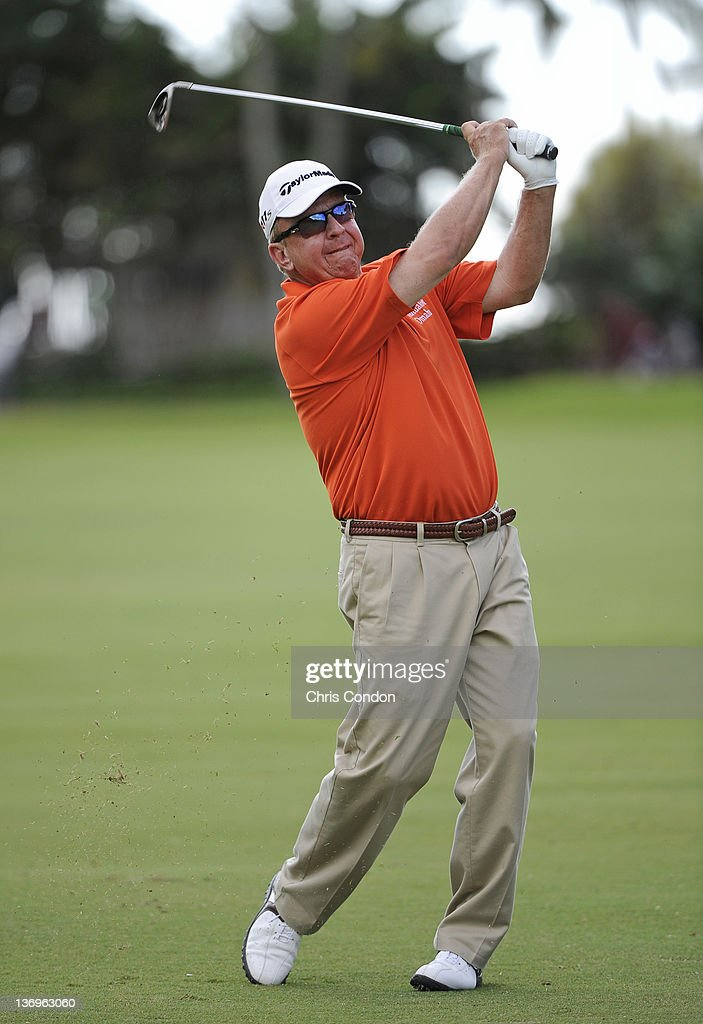 Billy Mayfair plays from the 14th fairway during the second round of the Sony Open in Hawaii at Waialae Country Club on January 13 2012 in Honolulu...