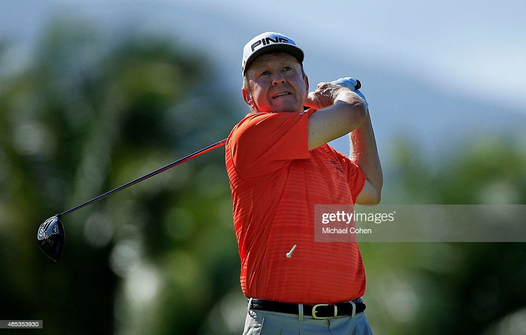Billy Mayfair plays his shot from the ninth tee during round two of the Puerto Rico Open presented by Banco Popular on March 6 2015 in Rio Grande...