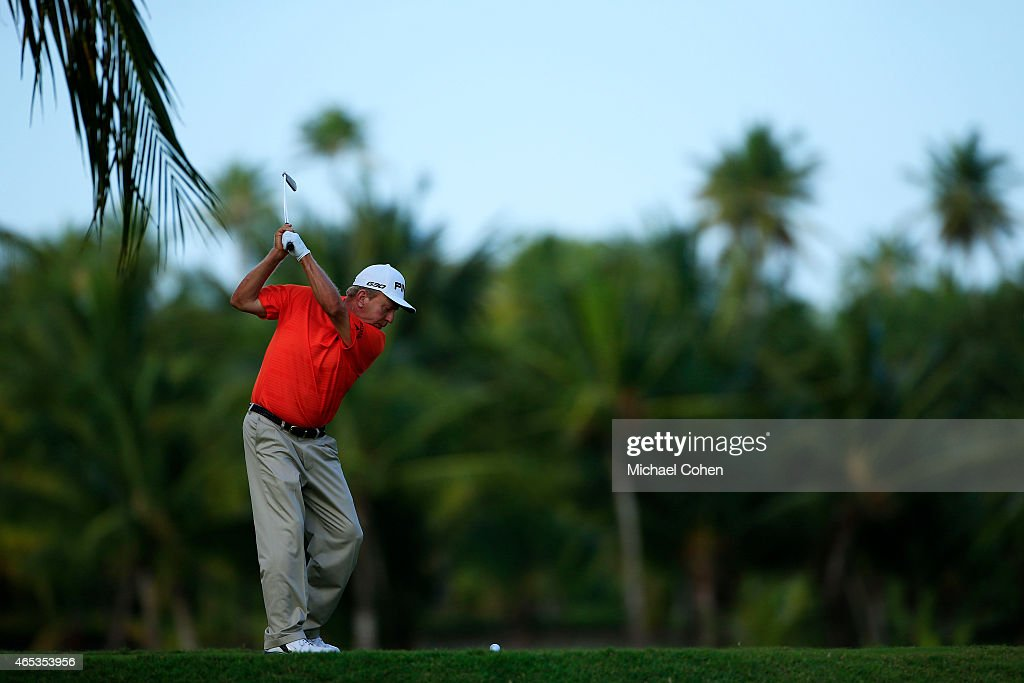 Billy Mayfair plays his shot from the third tee during round two of the Puerto Rico Open presented by Banco Popular on March 6 2015 in Rio Grande...