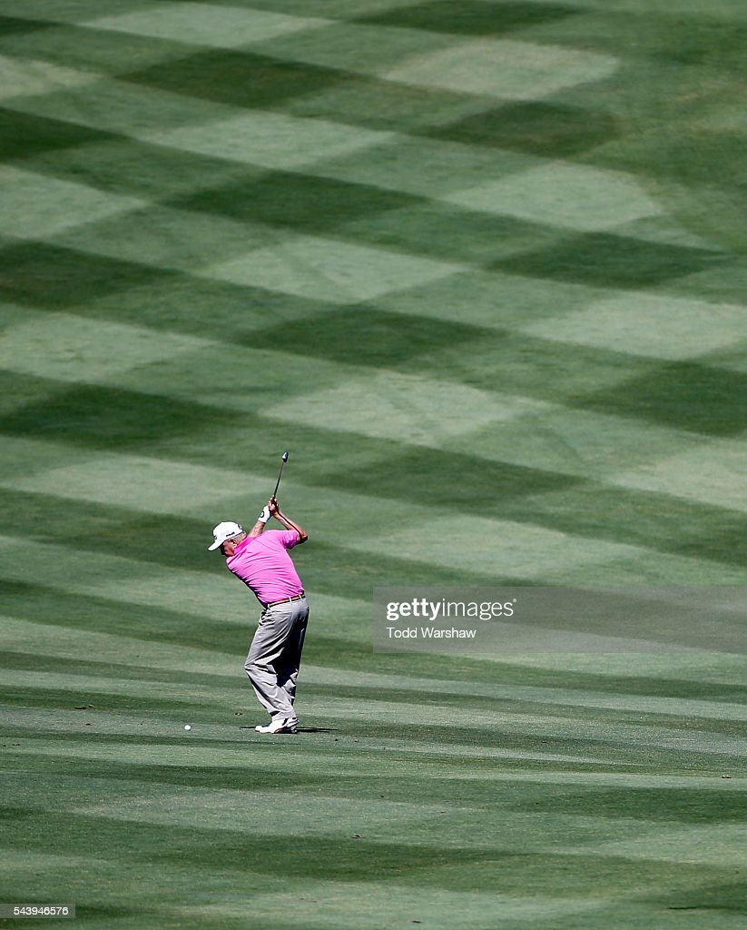 <a gi-track='captionPersonalityLinkClicked' href=/galleries/search?phrase=Billy+Mayfair&family=editorial&specificpeople=564172 ng-click='$event.stopPropagation()'>Billy Mayfair</a> plays his shot on the first fairway during the first round of the Barracuda Championship at the Montreux Golf and Country Club on June 30, 2016 in Reno, Nevada.