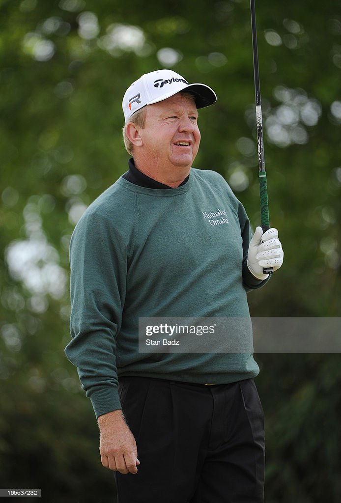 Billy Mayfair plays the fifth hole during the first round of the Chitimacha Louisiana Open at Le Triomphe Country Club on March 21 2013 in Broussard...