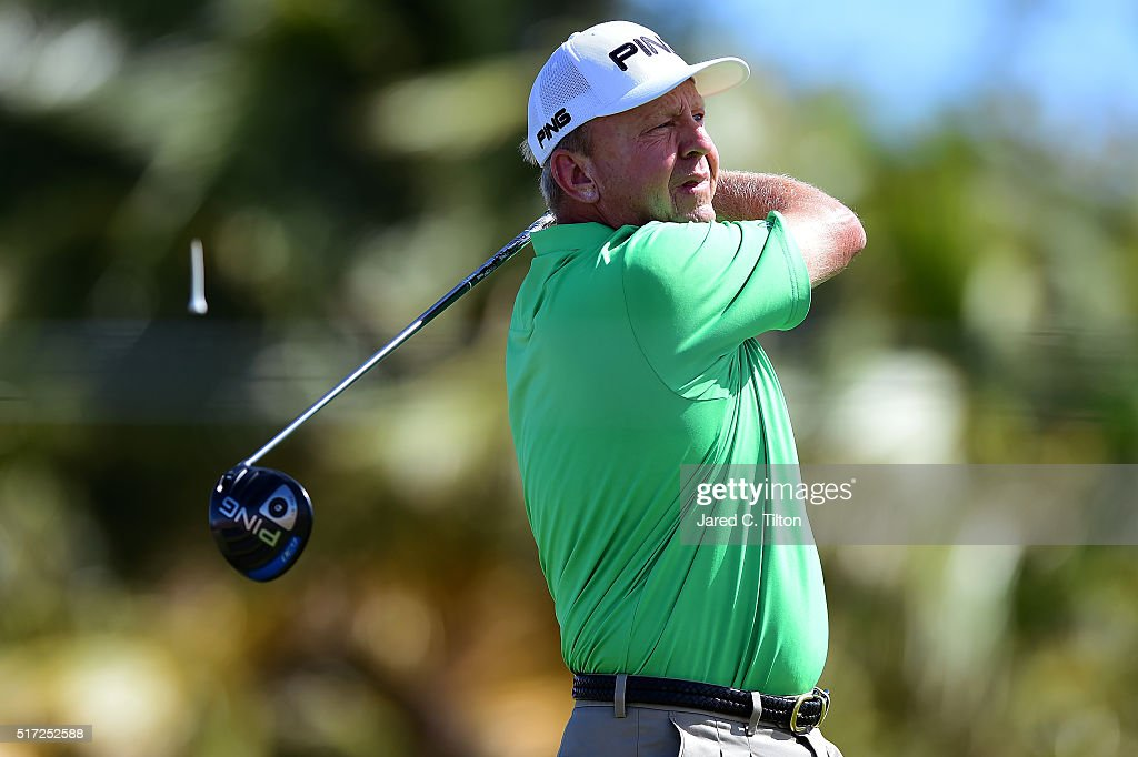 Billy Mayfair tees off on the 13th hole during the first round of the Puerto Rico Open at Coco Beach on March 24 2016 in Rio Grande Puerto Rico