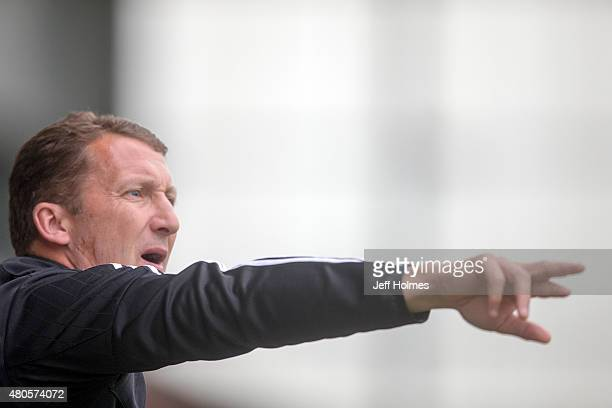 Billy McKinlay coach of Real Sociedad at the Pre Season Friendly between Celtic and Real Sociedad at St Mirren Park on July 10th 2015 in Paisley...