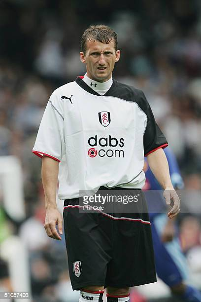 Billy McKinlay of Fulham in action during the preseason match between Fulham and Watford at Craven Cottage on July 9 2004 in London
