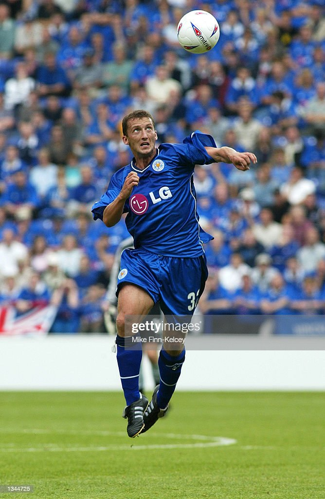 Billy McKinlay of Leicester City in action in the Nationwide League Division One match between Leicester City and Watford at the Walkers Stadium in Leicester, England on August 10, 2002. Leicester won 2-0.