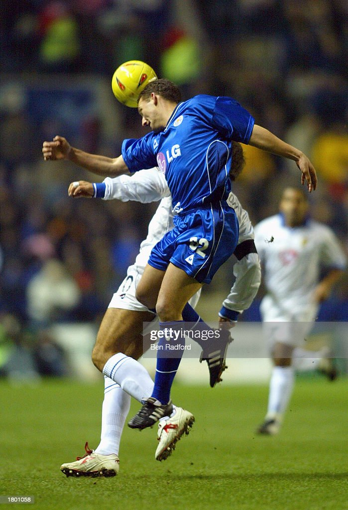 Billy McKinlay of Leicester out jumps Paul Marson of Portsmouth during the Nationwide League Division One match between Leicester City and Portsmouth at Walkers Stadium, Leicester, England on February 17, 2003.