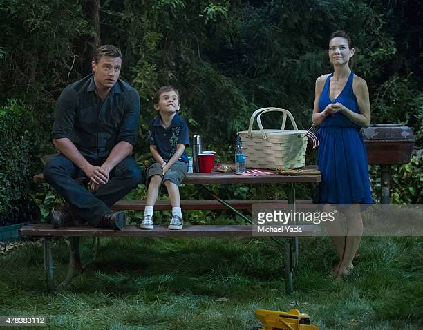 HOSPITAL Billy Miller Jason David and Rebecca Herbst in a scene that airs the week of June 29 2015 on ABC's 'General Hospital' 'General Hospital'...