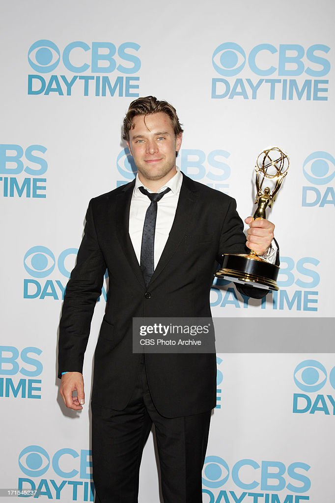 Billy Miller of The Young and the Restless celebrates his win for Outstanding Supporting Actor at the 2013 CBS Daytime Emmy After-Party at theTHE 40TH ANNUAL DAYTIME ENTERTAINMENT EMMY AWARDS at THE BEVERLY HILTON in Los Angeles.