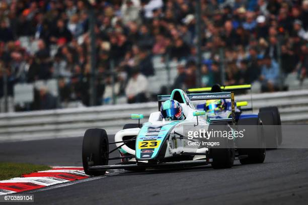Billy Monger of JHR Developmennts drives during the F4 British Championship at Brands Hatch on April 2 2017 in Longfield England