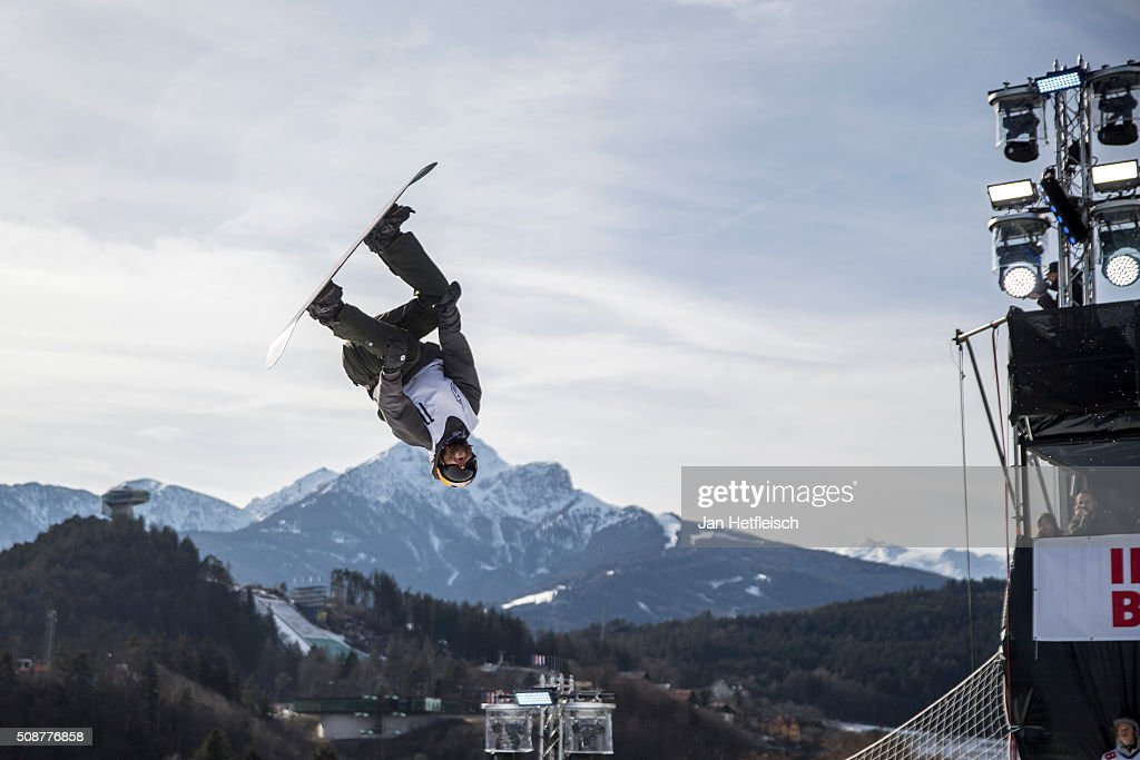 Billy Morgan from Great Britain jumps during Air and Style Festival February 6, 2016 in Innsbruck, Austria.