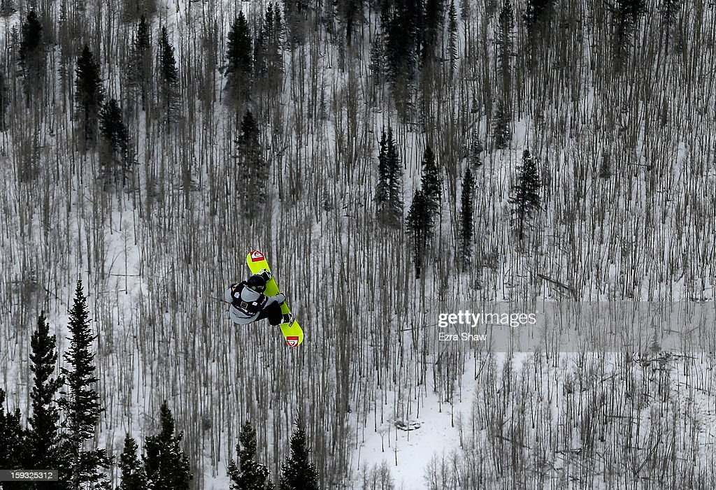 Billy Morgan of Great Britain competes in the FIS Snowboard Slope Style World Cup finals at the US Grand Prix on January 11, 2013 in Copper Mountain, Colorado.