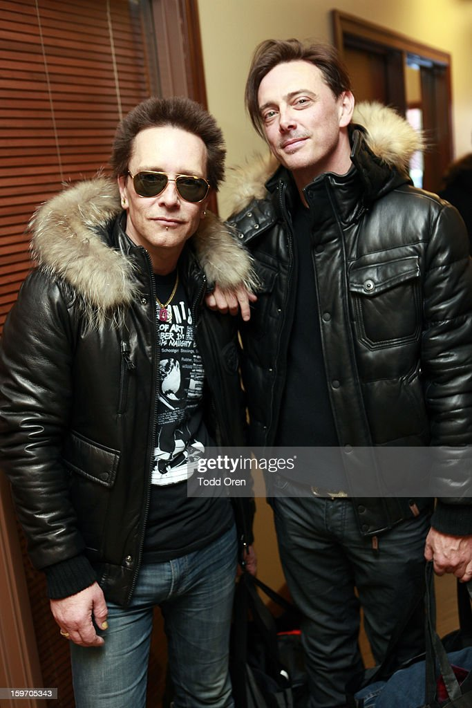 Billy Morrison and Donovan Leitch attend Sears Shop Your Way Digital Recharge Lounge on January 18, 2013 in Park City, Utah.