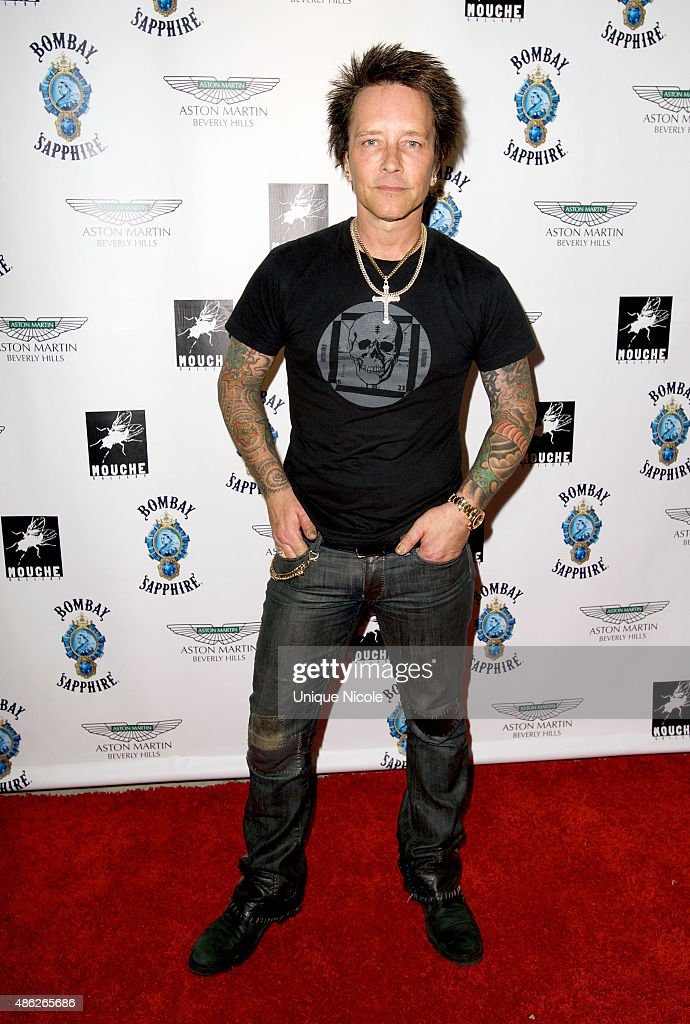 Billy Morrison arrives at the VIP opening reception for 'Dis-Ease' - an evening of fine art with Billy Morrison at Mouche Gallery on September 2, 2015 in Beverly Hills, California.