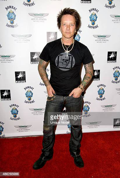 Billy Morrison arrives at the VIP opening reception for 'DisEase' an evening of fine art with Billy Morrison at Mouche Gallery on September 2 2015 in...