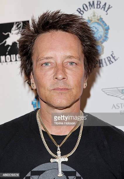 Billy Morrison attends the VIP opening reception for 'DisEase' an evening of fine art with Billy Morrison at Mouche Gallery on September 2 2015 in...