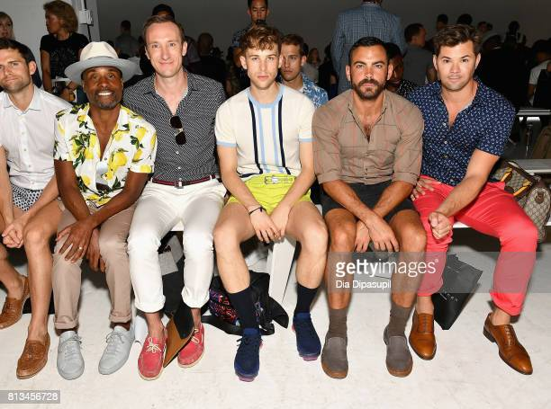 Billy Porter a guest Tommy Dorfman Matthew Risch and Andrew Rennells attend the Parke Ronen Spring 2018 show on July 12 2017 in New York City