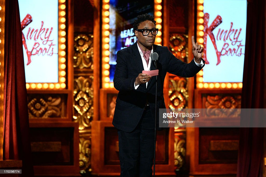 Billy Porter accepts the Tony Award for Best Performance by an Actor in a Leading Role in a Musical for his role in 'Kinky Boots' at The 67th Annual Tony Awards at Radio City Music Hall on June 9, 2013 in New York City.