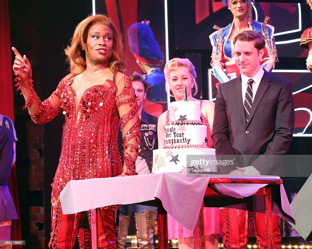 <a gi-track='captionPersonalityLinkClicked' href=/galleries/search?phrase=Billy+Porter&family=editorial&specificpeople=787592 ng-click='$event.stopPropagation()'>Billy Porter</a> and Andy Kelso celebrate the one-year anniversary of 'Kinky Boots' on Broadway at The Hirshfeld Theatre on April 6, 2014 in New York City.