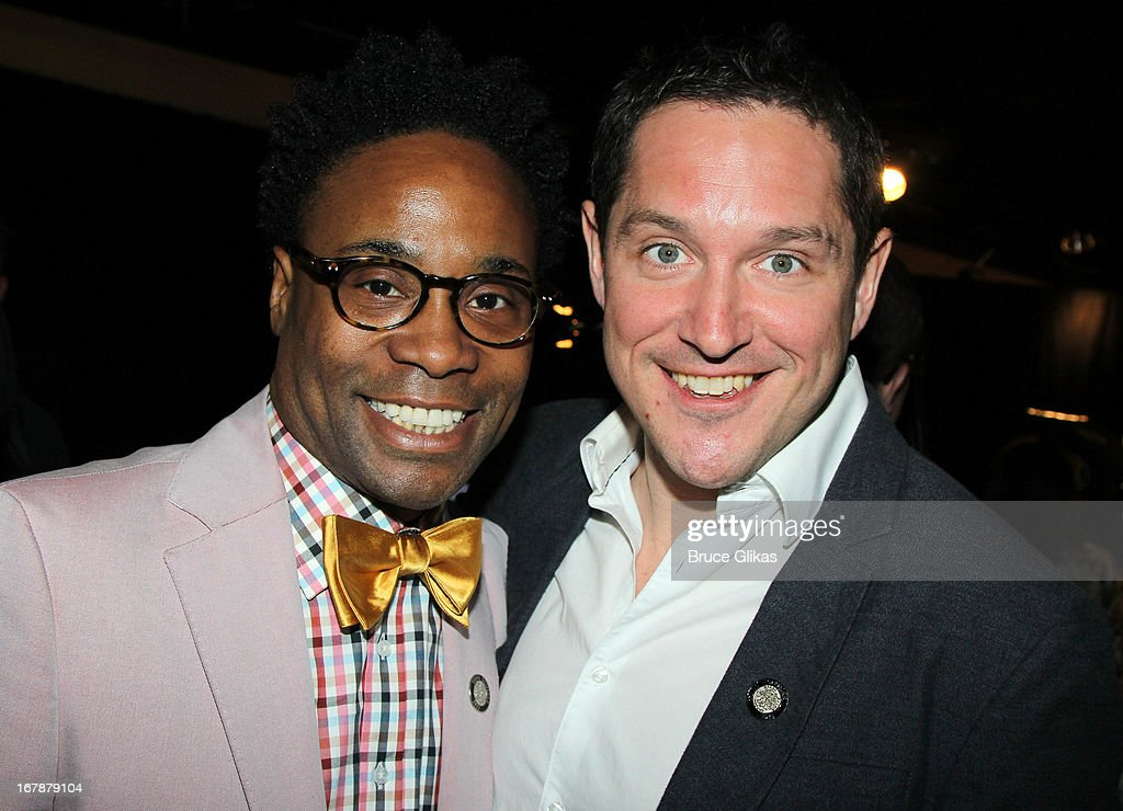 Billy Porter and Bertie Carvel attend the 2013 Tony Awards: The Meet The Nominees Press Junket at the Millenium Hilton on May 1, 2013 in New York City.